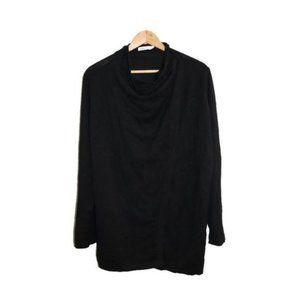 Reitmans Black Wrap Shawl Knit Cardigan Sweater